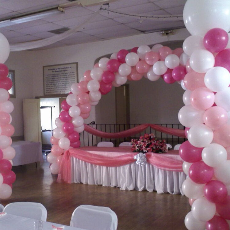 Weddings party presentation 2 x balloon columns arch kit for Balloon arch decoration kit