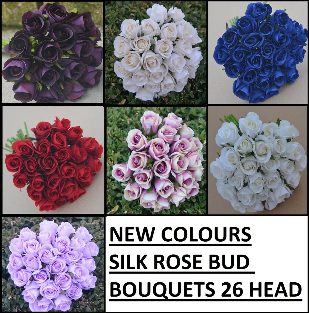 SILK ROSE ROSES PRE MADE BOUQUETS WEDDING BRIDAL BOUQUET