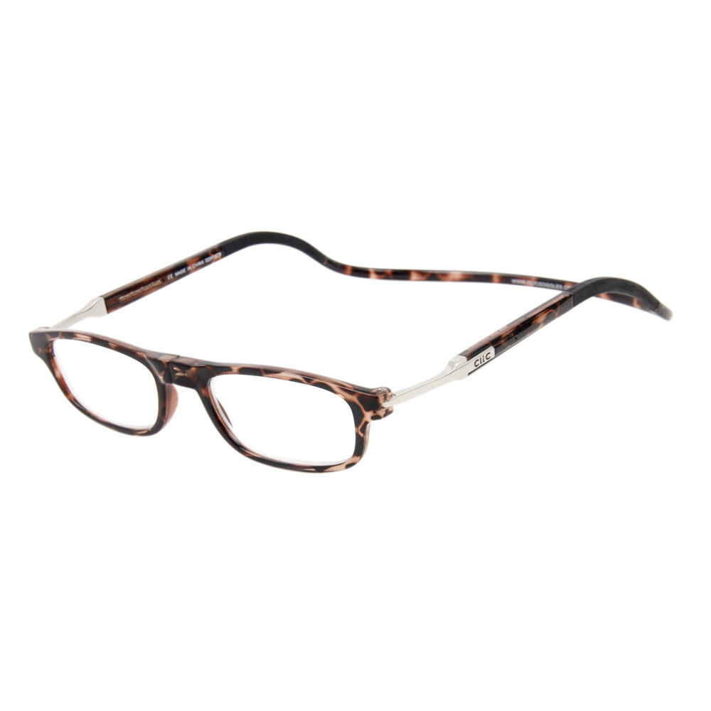 clic readers flex tortoise frame front connect magnetic