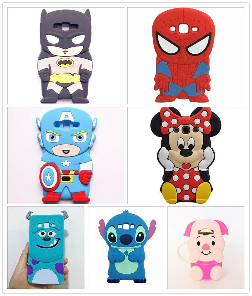 NEW 3D Sulley Batman Minnie Stitch Silicon Case Cover For Samsung ...