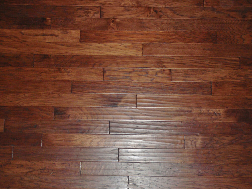 Colter hand scraped plank engineered hickory wood flooring for Hand scraped wood floors