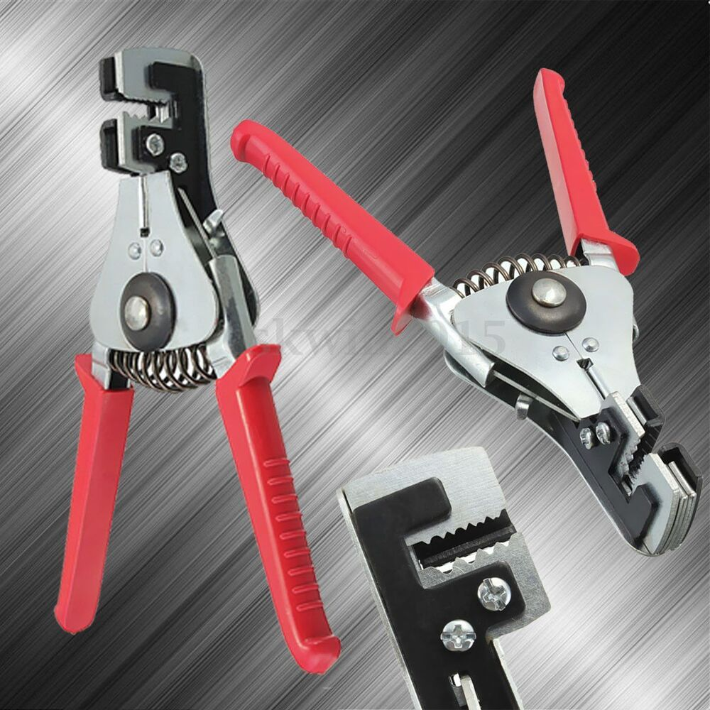 steel automatic cable wire stripper stripping crimper crimping plier cutter tool ebay. Black Bedroom Furniture Sets. Home Design Ideas