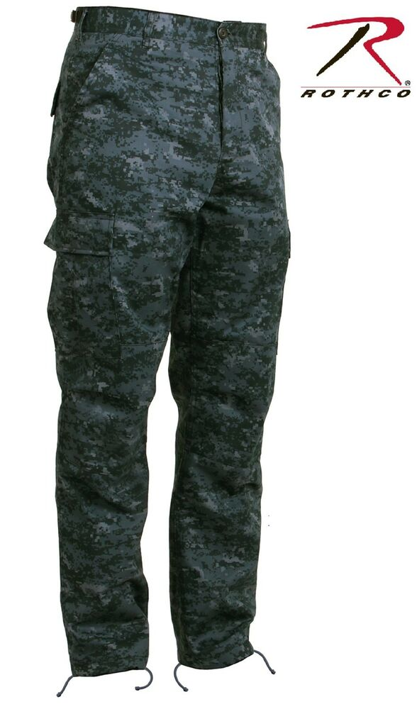 Midnight Blue Digital Camouflage BDU Cargo Pant - Mens ...