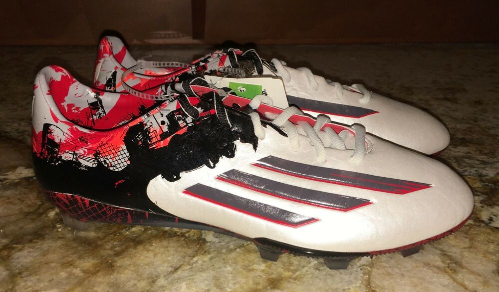 247b215b591 Details about ADIDAS Messi 10.1 Pibe de Barr 10 FG Soccer Cleats White Grey  NEW Mens 8.5 9 9.5