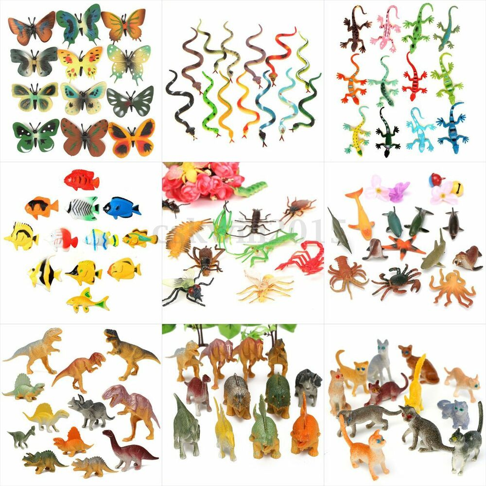 Plastic Wildlife Farm Jungle Animals Insect Bugs Display