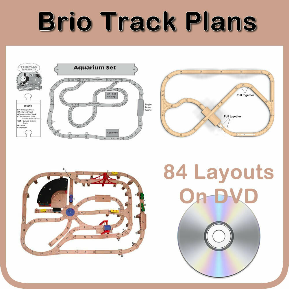 BRIO TRACK TRAIN WOODEN THOMAS PLANS 84 LAYOUTS ON