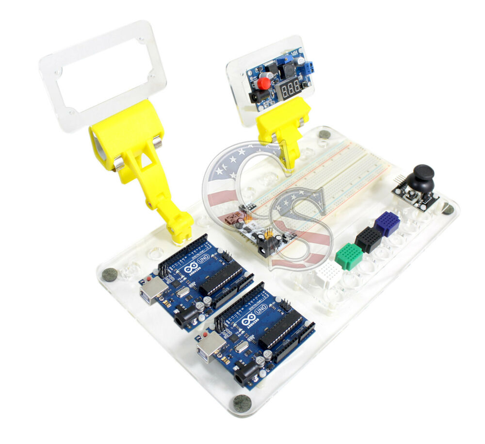 Arduino uno r work board kit with mb breadboard space