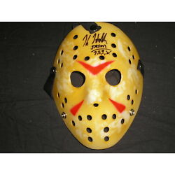 Kyпить  KANE HODDER Signed Jason Voorhees Mask Autograph Friday the 13th Horror COA на еВаy.соm