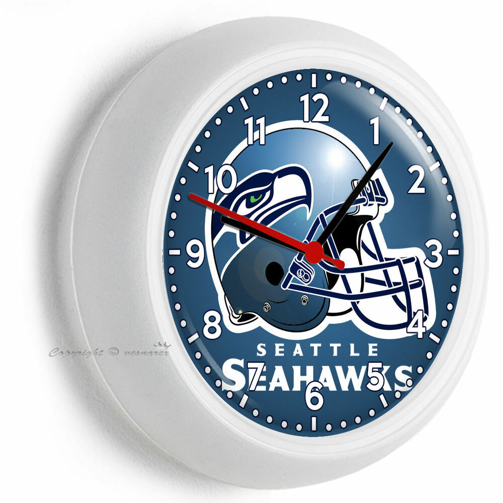 Seattle Seahawks Nfl Football Team Logo Wall Clock Man