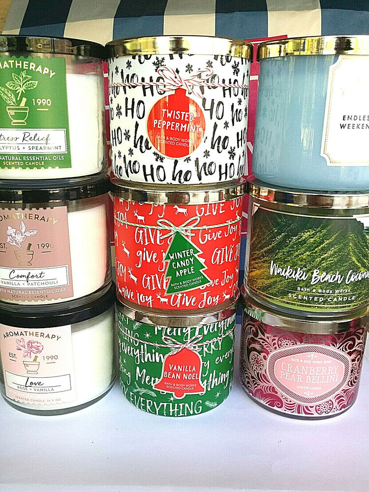 bath and body works 3 wick candle 14 5 oz you choose the scent new ebay. Black Bedroom Furniture Sets. Home Design Ideas