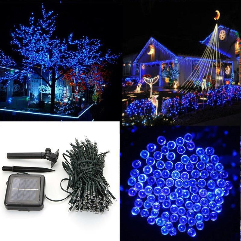 charm led solar power string lights party xmas wedding. Black Bedroom Furniture Sets. Home Design Ideas