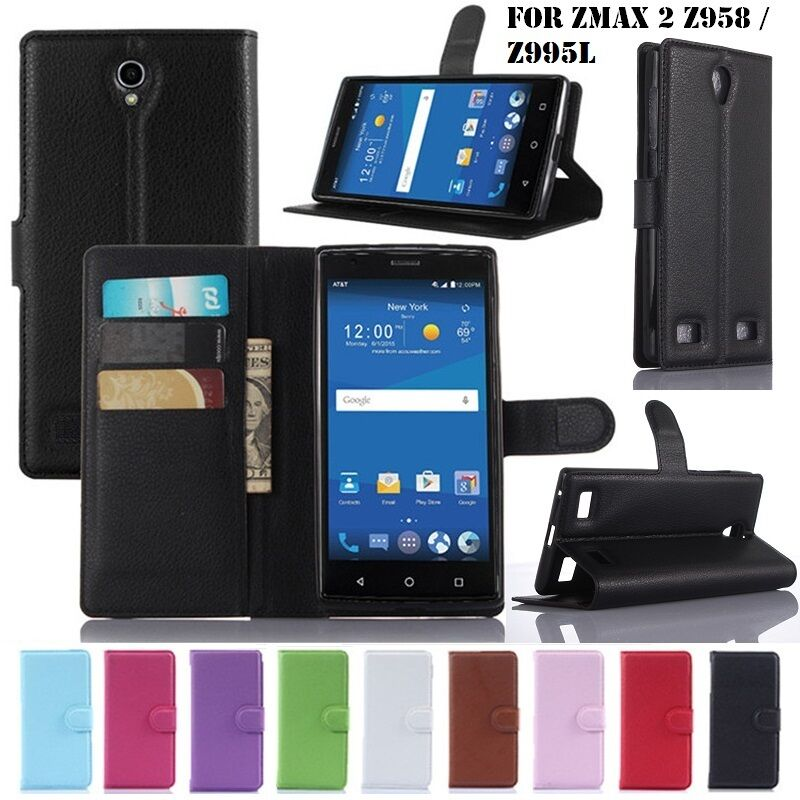 Luxury Leather Wallet Card Flip Stand Back Cover Case For