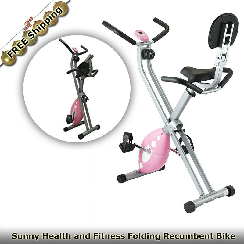 Home Exercise Equipment Bikes: Sunny Health Folding Recumbent Bike Home Gym Workout