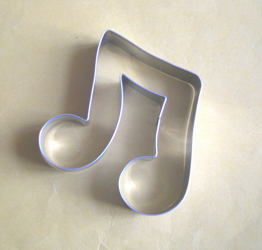 Music Note Symbol Party Biscuit Baking Stainless Steel