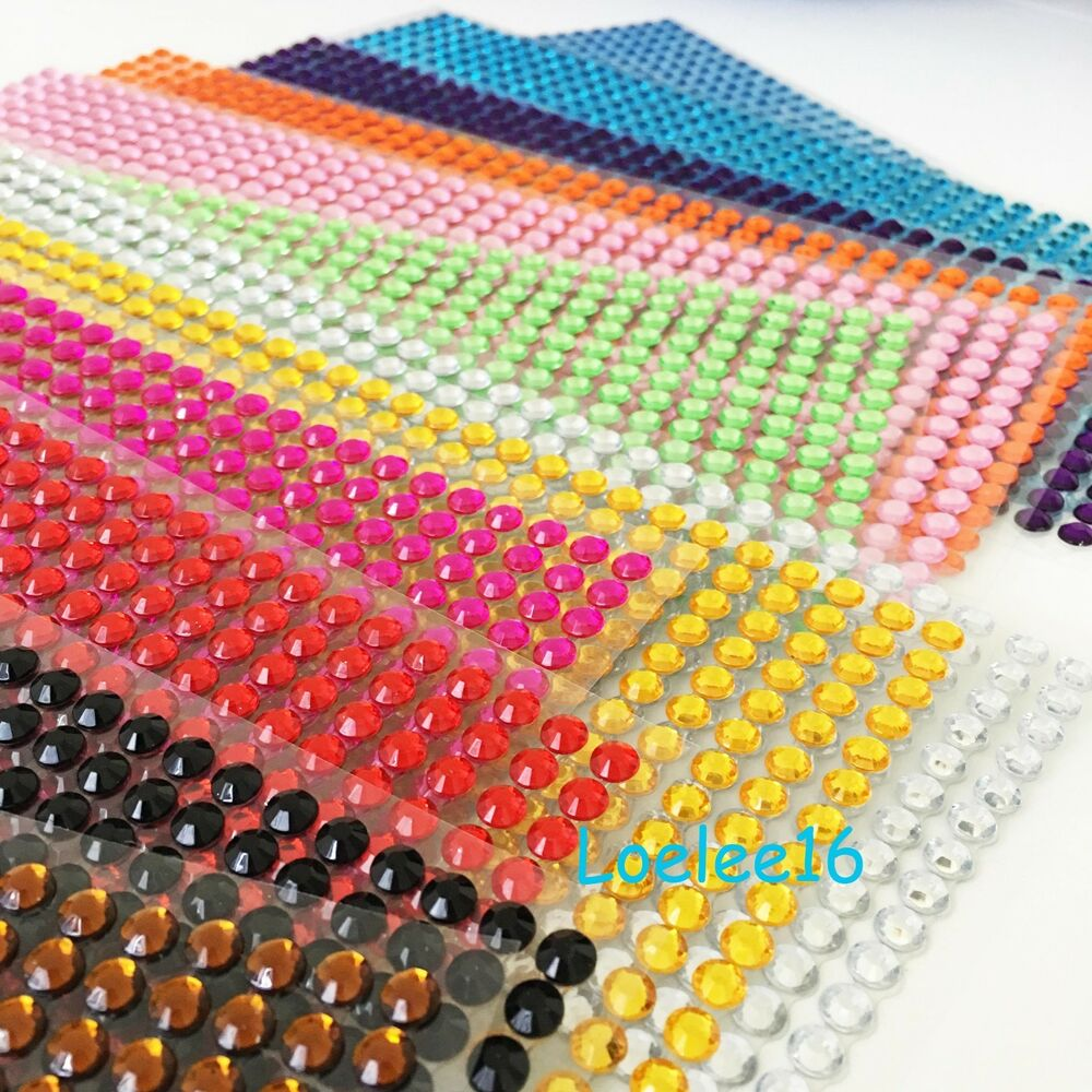 504 Pcs 6mm Self Adhesive Rhinestone Crystal Bling