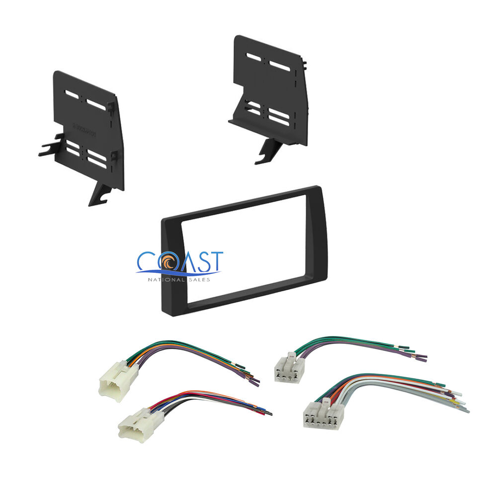 single double din car stereo dash kit harness combo for 2002 2006 toyota camr. Black Bedroom Furniture Sets. Home Design Ideas