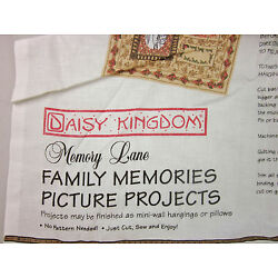 DAISY KINGDOM ''Family Memories Picture PROJECTS  KIT 100% Cotton Fabric TAN