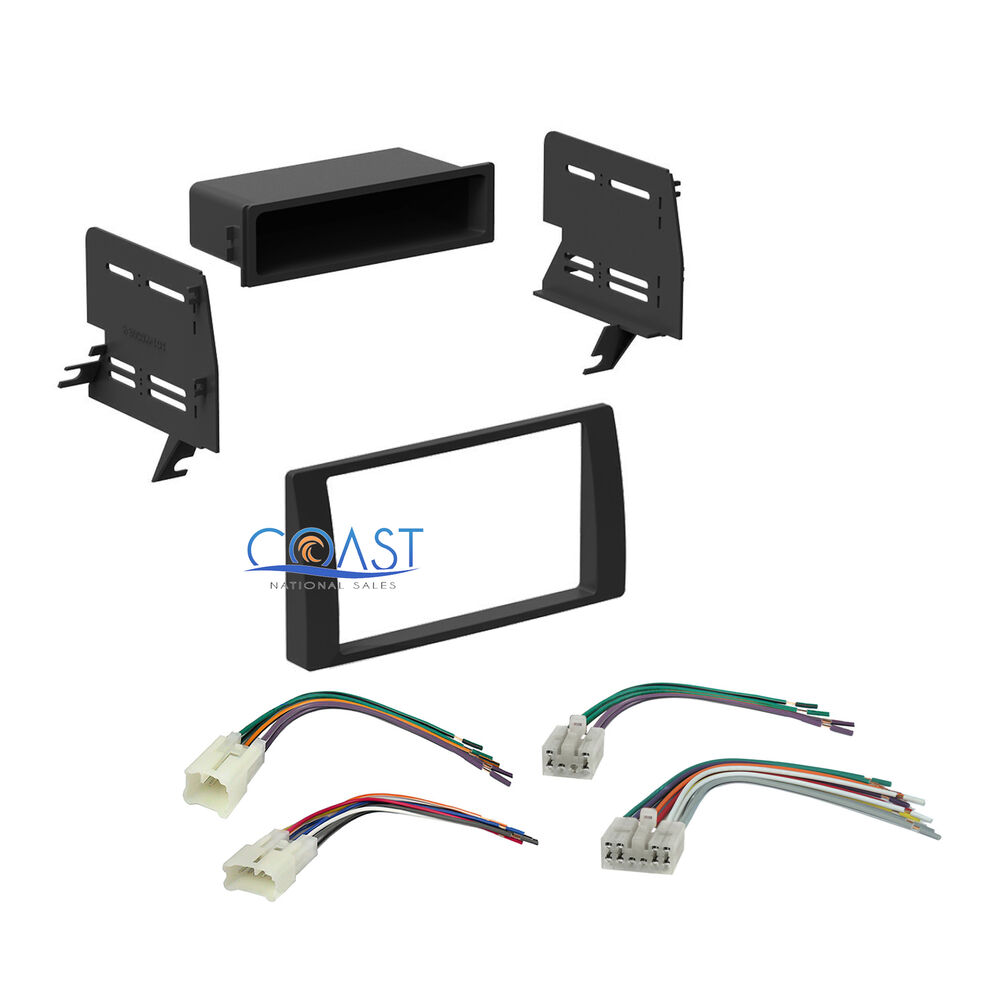 car stereo single double din dash kit harness combo for 2002 2006 toyota camry ebay. Black Bedroom Furniture Sets. Home Design Ideas