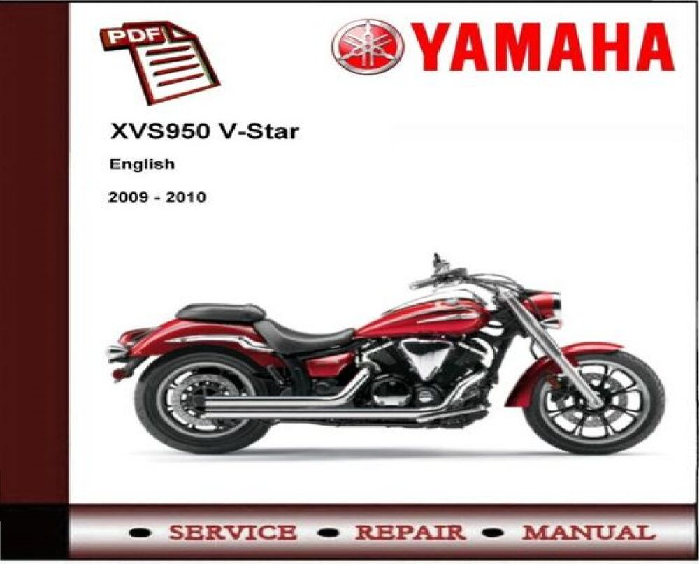 Yamaha XVS950 XVS 950 V-Star 2009 - 2010 Service Repair Workshop Manual |  eBay