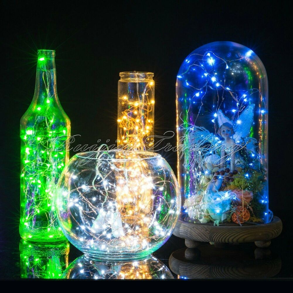 Diy Wire String Lights : 20LED Cell Battery Operated Micro Wire String Fairy light DIY Party Xmas Wedding eBay