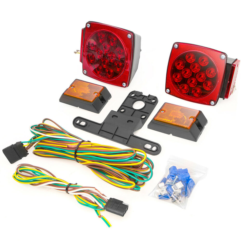 Led Boat Trailer Wiring Kit Wire Schematic Diagram Lights Harness 12 Volt Towing Light Set Rv Cars Suv Dot Listed Water Proof
