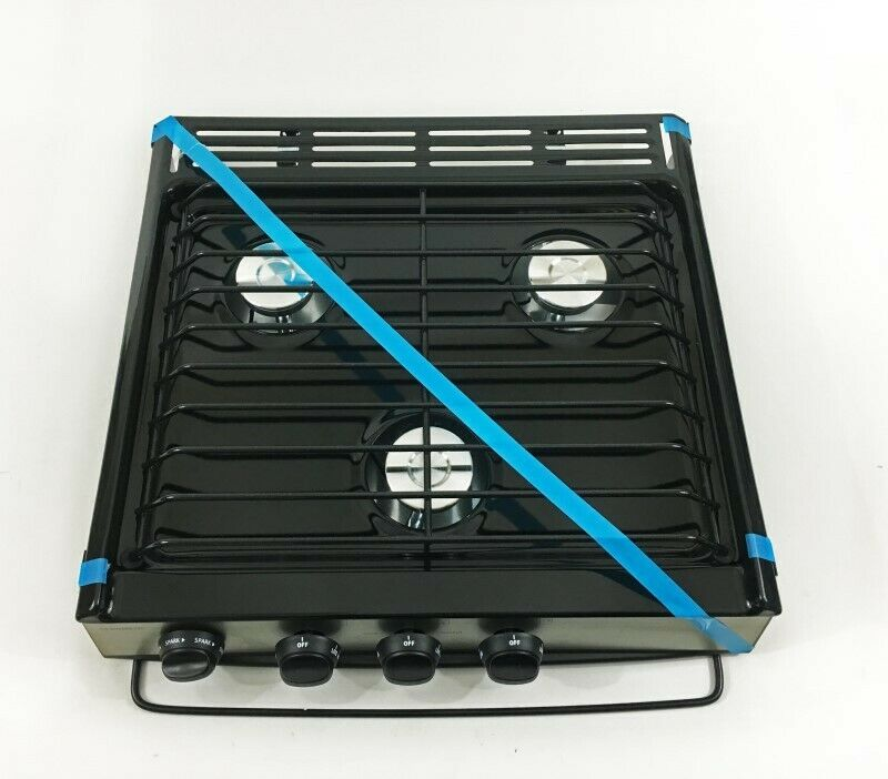 Atwood 52941 Black Slide In 3 Burner Cooktop Ebay