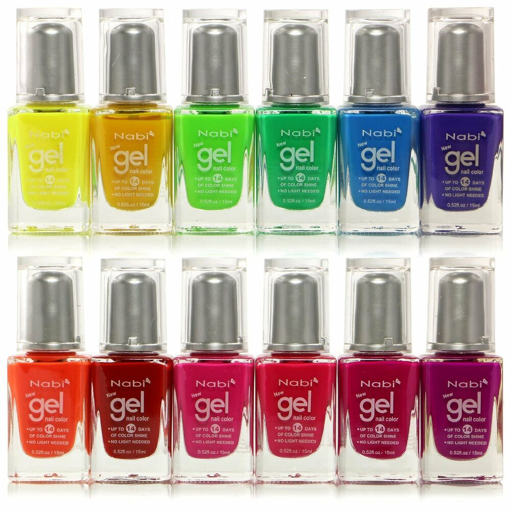 12pc Nabi Gel Nail Color Neon Nail Polish Set 88345101200