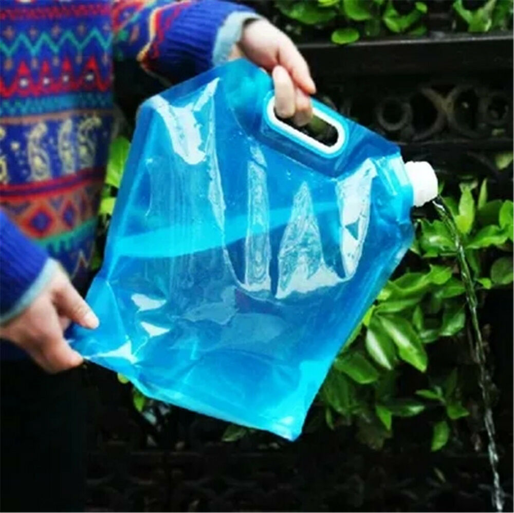 10L Outdoor Collapsible Foldable Drinking Water Bag Car Water Carrier Container