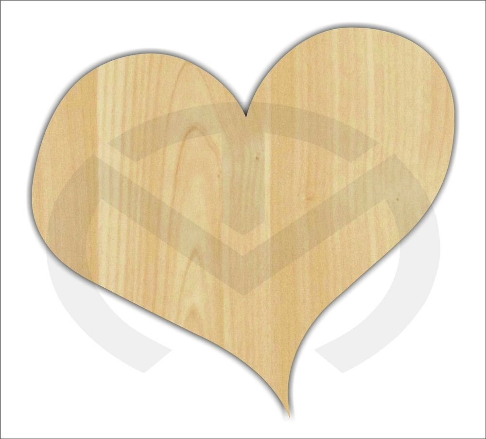 Unfinished Wood Whimsical Heart Laser Cutout Wreath