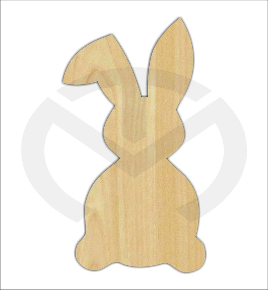 Unfinished Wood Easter Bunny Rabbit With Floppy Ear Laser