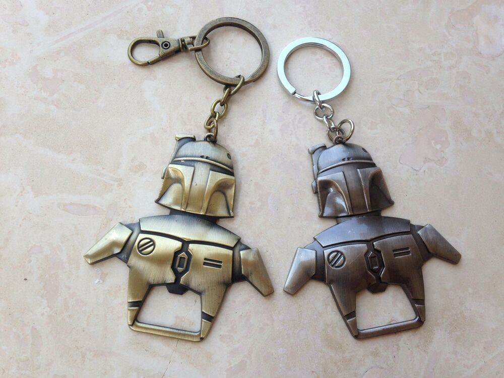 star wars boba fett metal bottle opener keychain bronze new free us shipping ebay. Black Bedroom Furniture Sets. Home Design Ideas