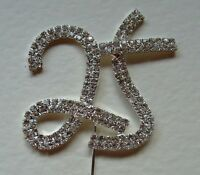 25 Silver Cake Pick Diamante Rhinestone Topper Number Birthday Anniversary