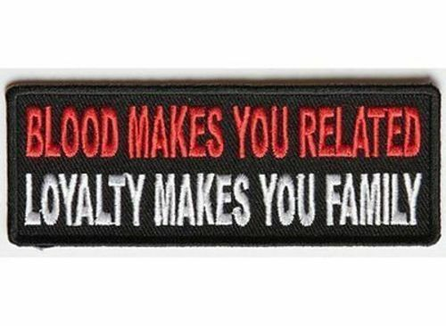 BLOOD MAKES YOU RELATED Embroidered Jacket Vest Patch