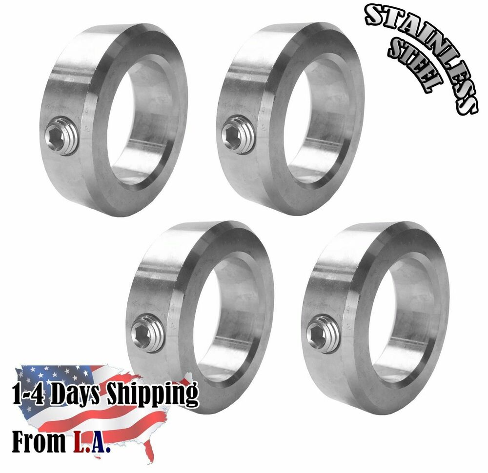 Quot bore stainless steel shaft collars set screw style