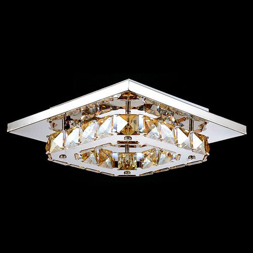 modern amber square crystal led ceiling light lamp ceiling