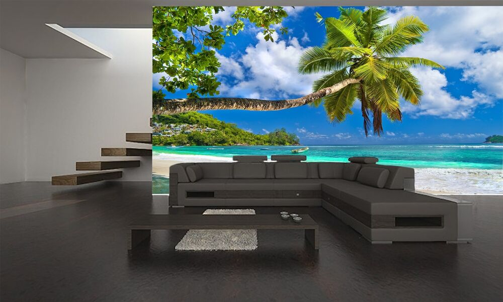 seychelles wall mural photo wallpaper giant decor paper poster free paste ebay. Black Bedroom Furniture Sets. Home Design Ideas