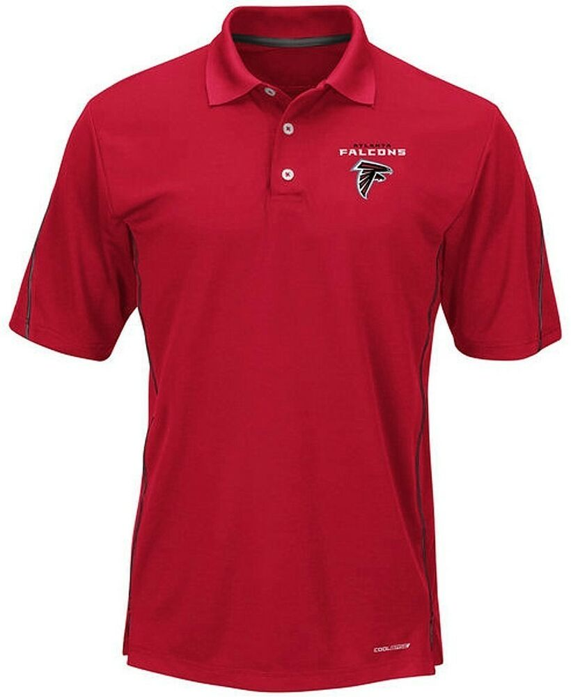 atlanta falcons moist management mens red field polo shirt
