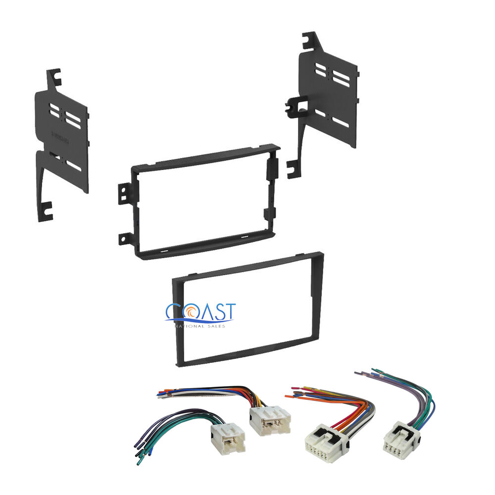 din car stereo dash kit wiring harness combo for 2006 2008 nissan 350z ebay