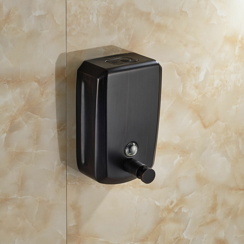 Oil Rubbed Bronze Bathroom Soap Dispenser Wall Mounted