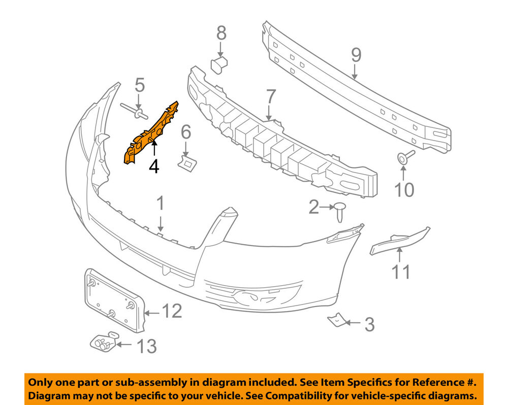 Swell Mercury Ford Oem 08 09 Sable Front Bumper Upper Retainer Right Wiring 101 Swasaxxcnl
