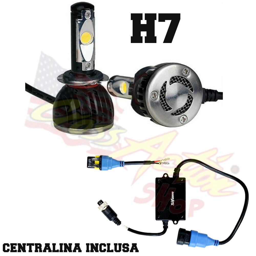 Kit lampadina h7 led 5000k centralina universale auto for Led luce bianca