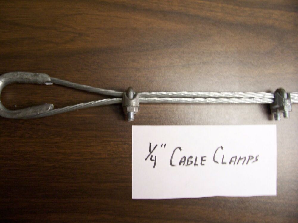 American tower quot guy wire clamps ebay