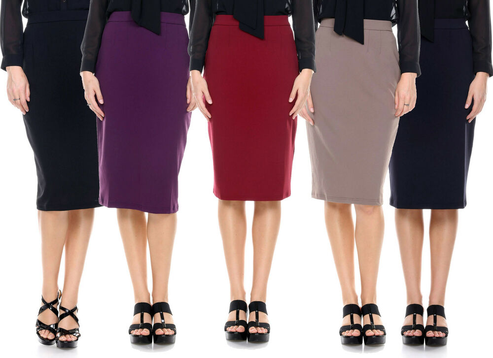 womens fitted business knee slimming high waist