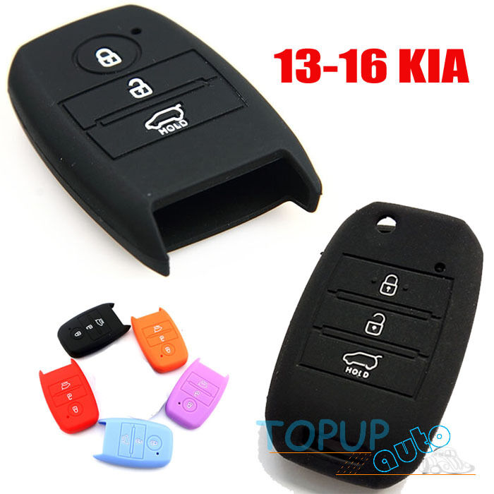 fit for 13 16 kia optima sportage silicone key cover fob soul rio forte carens ebay. Black Bedroom Furniture Sets. Home Design Ideas
