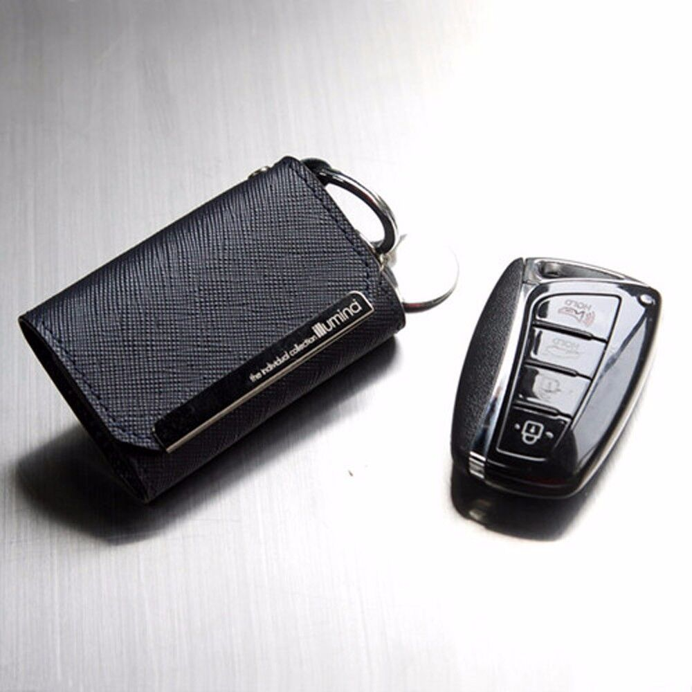 Leather Smart Key Holder Case Cover For Hyundai New