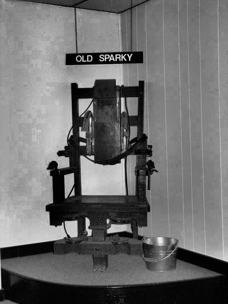 Framed print alcatraz prison electric chair execution for Sedia elettrica usa