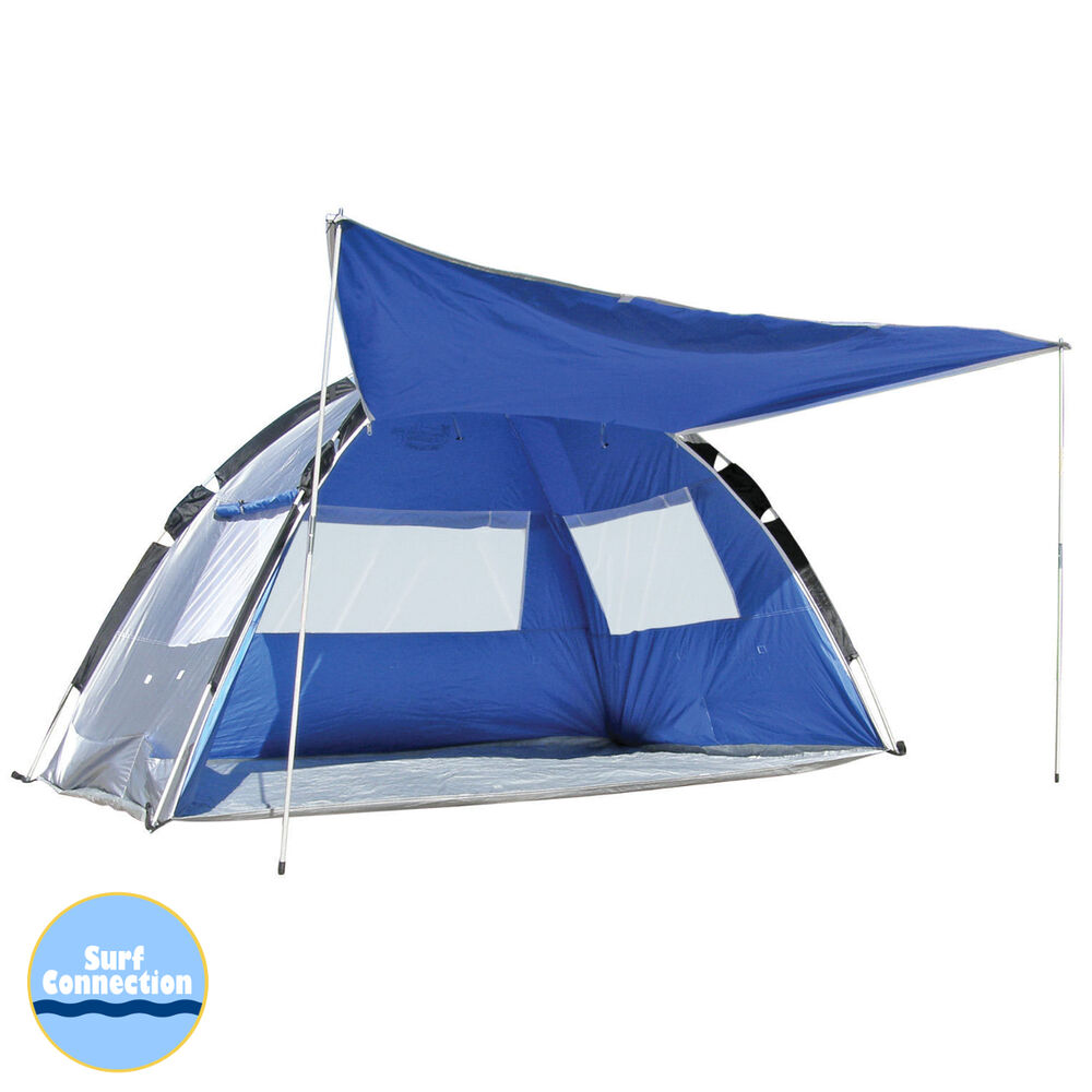 land sea pop up family beach tent sun shelter upf 50 beach shelter ebay. Black Bedroom Furniture Sets. Home Design Ideas