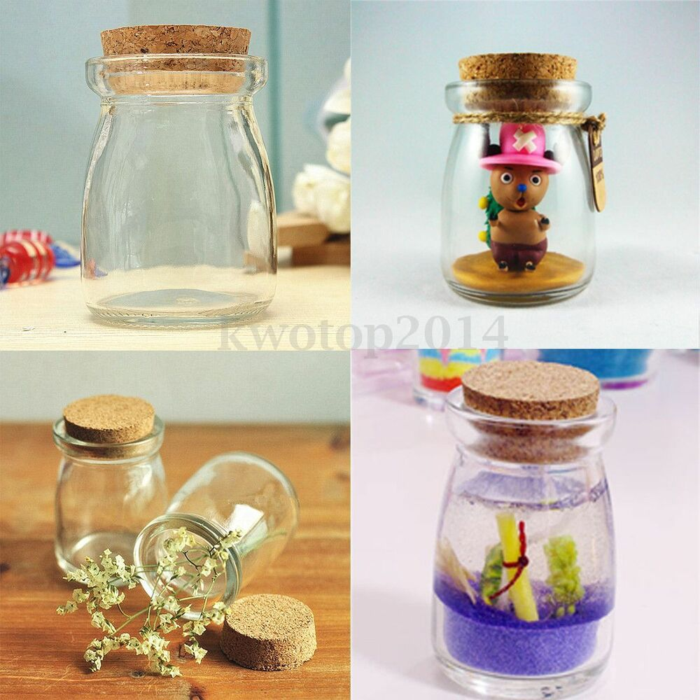 Mini Small Clear Glass Storage Bottle Jars Vial Container