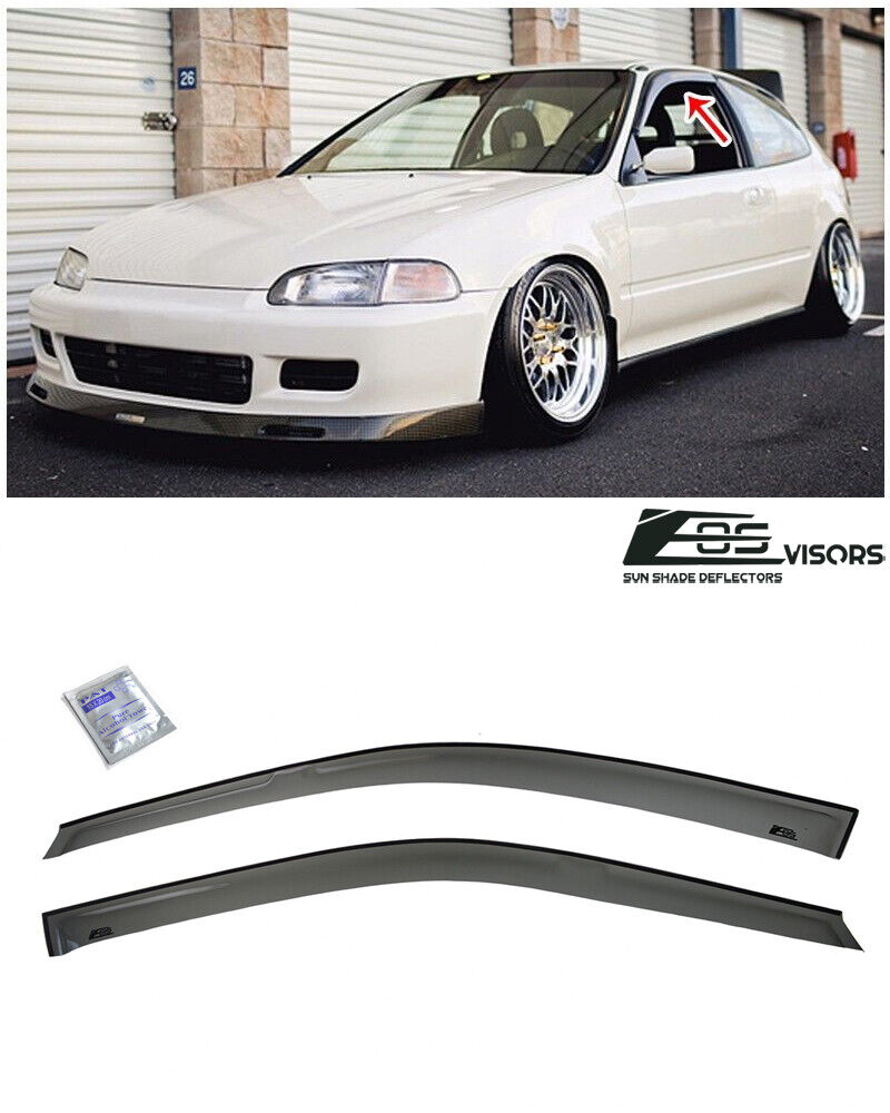 Civic Hatch: For 92-95 Honda Civic Hatch 3Dr Smoke Tinted Side Window