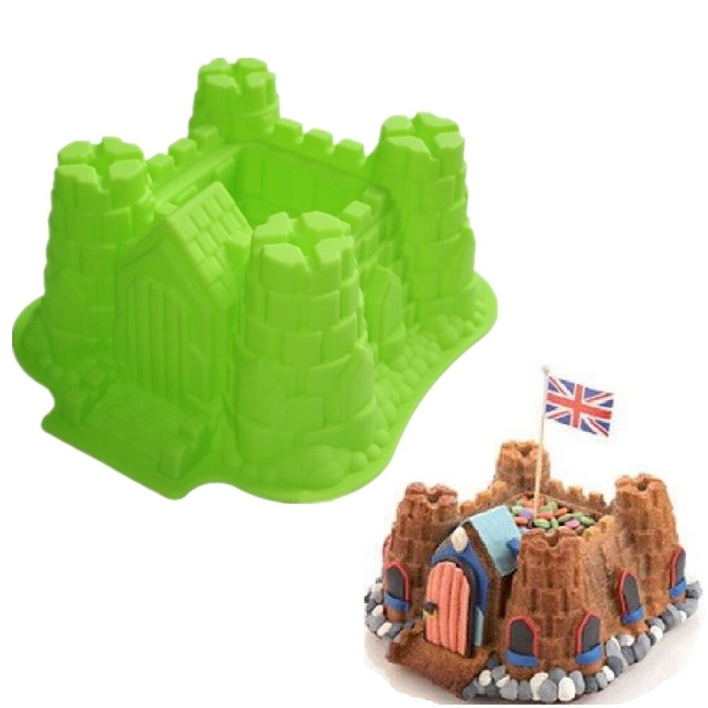 Cake Mold Large 3d Castle Silicone Cake Baking Pans Bread